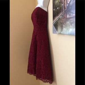 Dresses & Skirts - Red lace strapless dress.